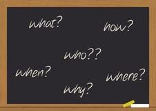 chalkboard pytanie Zdjęcie Royalty Free