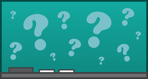 Chalkboard Question Marks Royalty Free Stock Images
