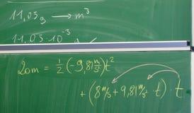 chalkboard równanie Fotografia Stock