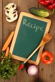 Chalkboard  recipe Stock Photos