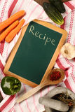 Chalkboard  recipe Royalty Free Stock Images