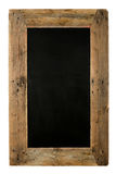 Chalkboard Restaurant Menu Board Reclaimed Wood on White Royalty Free Stock Photos