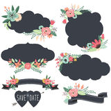 Chalkboard Retro Frames Wedding elements Stock Photo