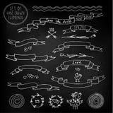 Chalkboard ribbons Stock Image