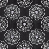 Chalkboard romantic seamless pattern with hearts Stock Photos