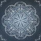 Chalkboard round ornament Royalty Free Stock Images