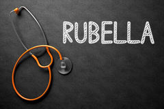 Chalkboard with Rubella Concept. 3D Illustration. Royalty Free Stock Images