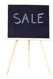 Chalkboard and sale Stock Photos