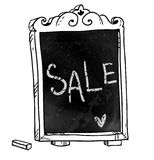 Chalkboard. Sale announcement Stock Photography
