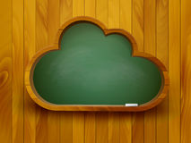 Chalkboard in a shape of a cloud. E-learning concept. Stock Images