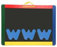 chalkboard sieci szeroki świat Obrazy Royalty Free