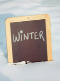 Winter Sign Royalty Free Stock Photos