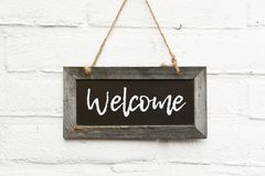 Free Chalkboard Sign Text Welcome Come In Stock Photos - 120290013
