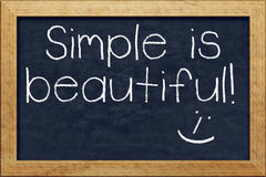 Chalkboard simple is beautiful Royalty Free Stock Photography