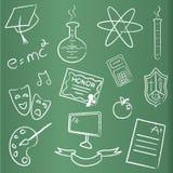 chalkboard skalowania ikony royalty ilustracja