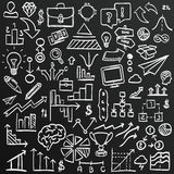 Chalkboard sketch icons set business, collection arrow scribble, Vector illustration. Chalkboard sketch icons set business, collection arrow scribble Royalty Free Stock Images