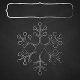 Chalkboard snowflake frame Royalty Free Stock Photography