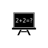 Chalkboard solid icon, education school element Stock Images
