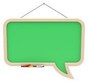 Chalkboard speech bubble Royalty Free Stock Photo
