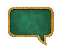 Chalkboard Speech Bubble. Isolated on white background. 3D render vector illustration