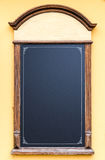 Chalkboard stand outside the restaurant Royalty Free Stock Photo