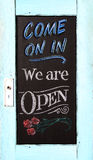 Chalkboard store sign Royalty Free Stock Image