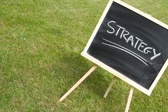 Chalkboard and strategy Stock Photography