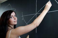 chalkboard studenta collegu writing potomstwa Obrazy Stock