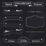 Chalkboard Style Banners, Ribbons and Frames Stock Photos