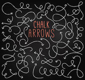 Chalkboard Style Doodle Hand Drawn Vector Arrows Royalty Free Stock Image
