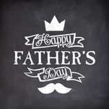 Chalkboard Style Greeting Card for Father's Day. Stock Image