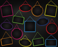 Chalkboard Style Hanging Frames or Hanging Signs Stock Images