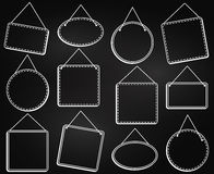 Chalkboard Style Hanging Frames or Hanging Signs Royalty Free Stock Photography