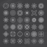 Chalkboard Swirl Elements. A collection of 36 swirl elements to add to your designs Stock Photography