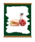 chalkboard szkoła royalty ilustracja