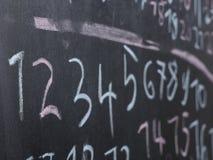 Chalkboard szkoły liczby Fotografia Royalty Free
