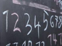 Chalkboard szkoły liczby Obrazy Stock