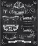 Chalkboard sztandary i wektor ramy Obrazy Royalty Free