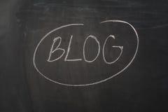 Chalkboard tło i blogu tekst Czarna blackboard rama z kopii przestrzenią Obraz Royalty Free