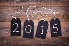 2015 chalkboard tags Royalty Free Stock Photo