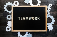 Chalkboard teamwork concept Royalty Free Stock Image