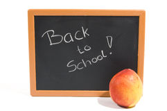 Chalkboard with the text back to school Stock Images