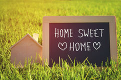 Chalkboard with the text home sweet home Royalty Free Stock Photography