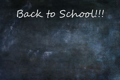 Chalkboard Texture Background with Back to School Text Royalty Free Stock Photo