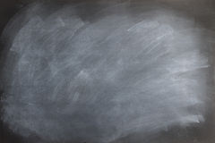 Chalkboard Texture. Black chalkboard texture with smudged and smeared  eraser marks Stock Photos