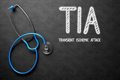 Chalkboard with TIA. 3D Illustration. Medical Concept: TIA - Transient Ischemic Attack - Medical Concept on Black Chalkboard. Medical Concept: TIA - Transient Stock Images