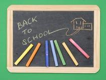 chalkboard tylna szkoła Obrazy Royalty Free