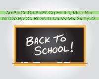chalkboard tylna szkoła Fotografia Royalty Free