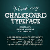 Chalkboard typeface, listy i liczby, royalty ilustracja
