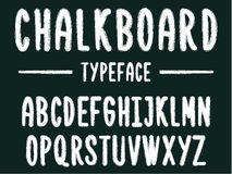 Chalkboard typeface, modern font written on the board with charcoal. Modern font western letters in chalk board style, uppercase and lowercase Vector Illustration